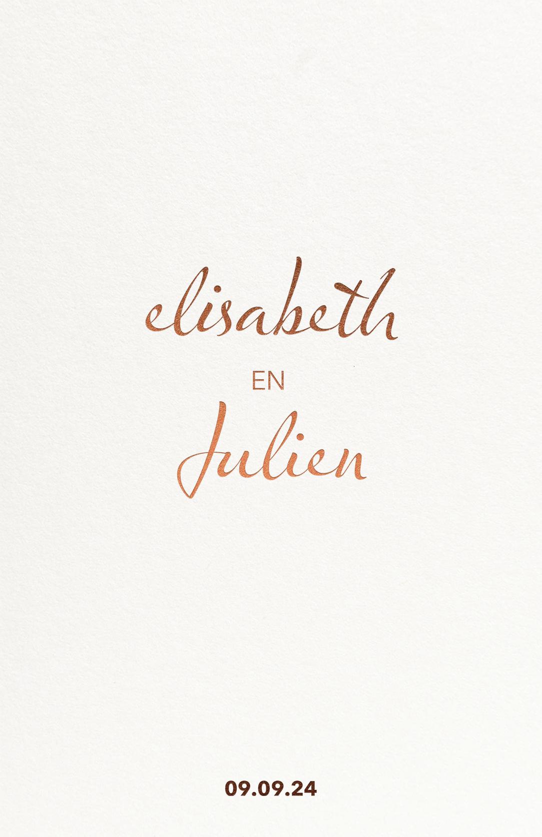 Trouwkaart Strak Minimalistisch Crème Wit Folie Glanzend Goud Groen Koper Luxe