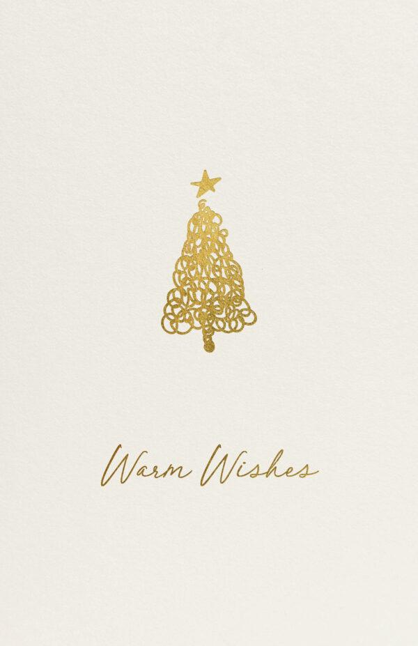 Doodle Kerstboom Kerst Glanzend Goud Folie
