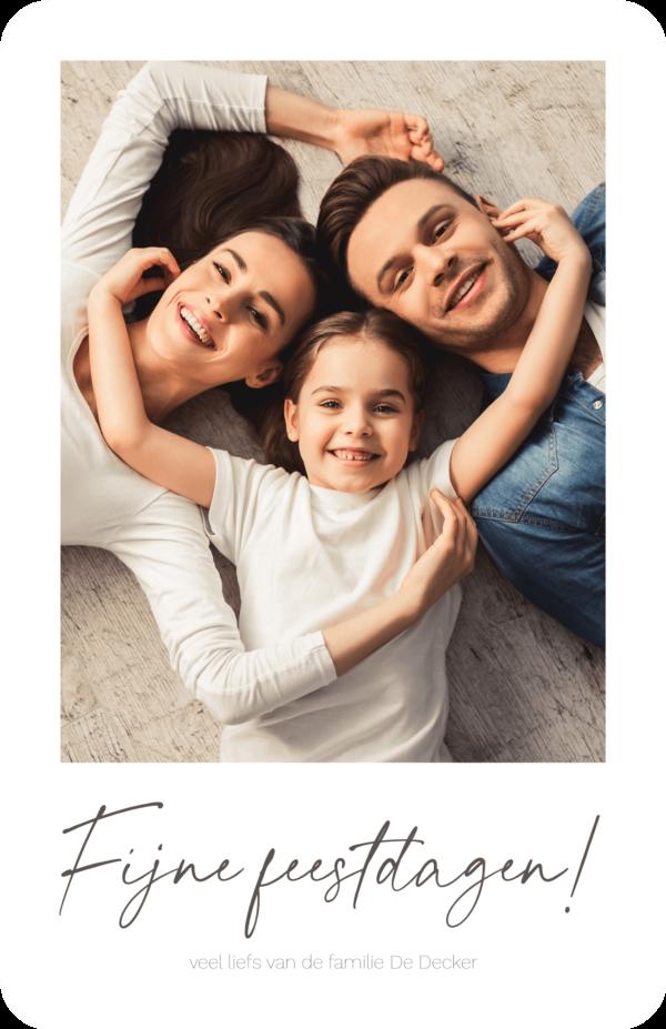Kerstkaart met foto als Polaroid Gezin Familiefoto