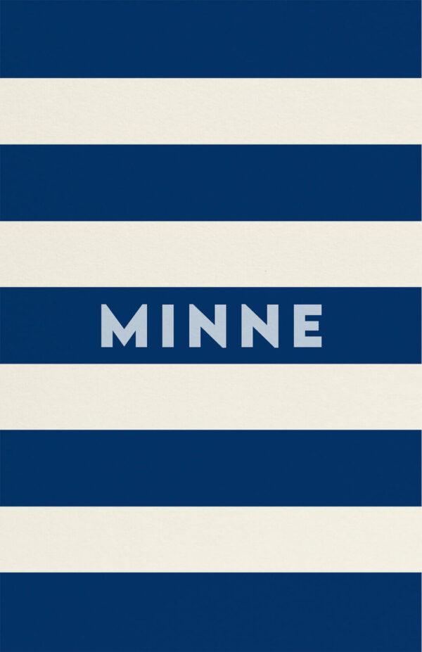 Geboortekaart Minimalistisch Simpel Eenvoud Luxe Marineblauw Babyblauw Lichtblauw Strepen Multiloft