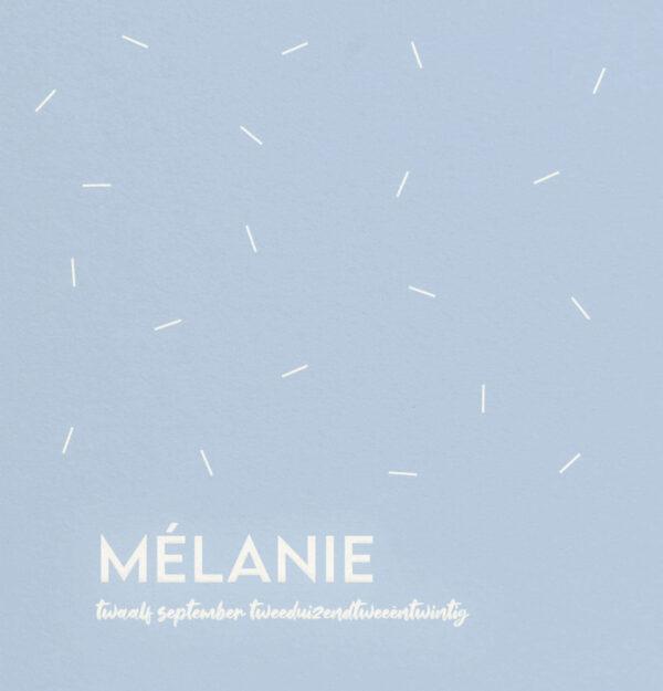 Geboortekaart Minimalistisch Simpel Streepjes Speels Blauw Babyblauw Multiloft