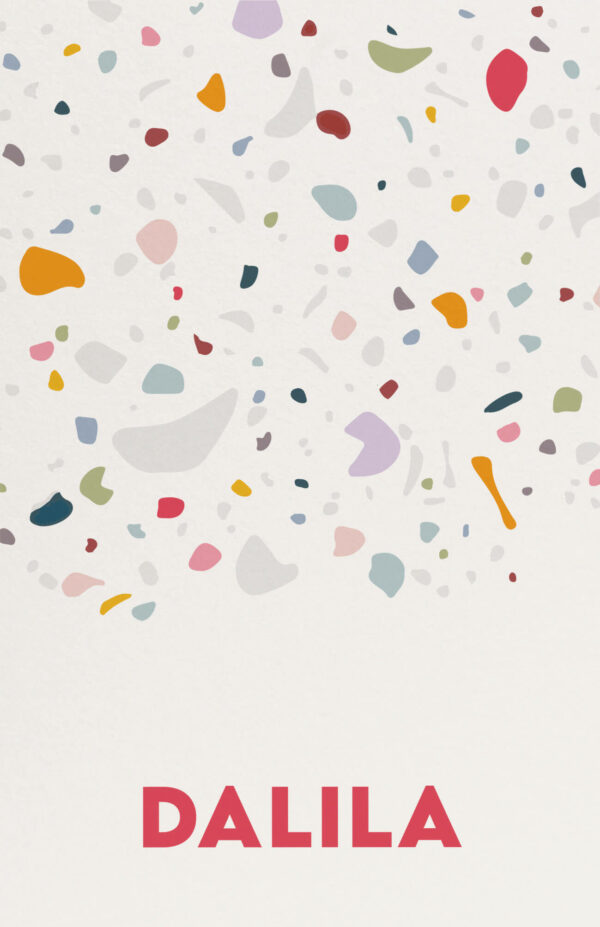 Geboortekaart Minimalistisch Simpel Eenvoud Terrazzo Zacht Kleurrijk Multiloft