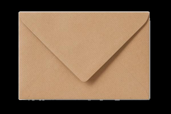 Envelop Lichtbruin Kraft Puntklep 18 x 12 cm