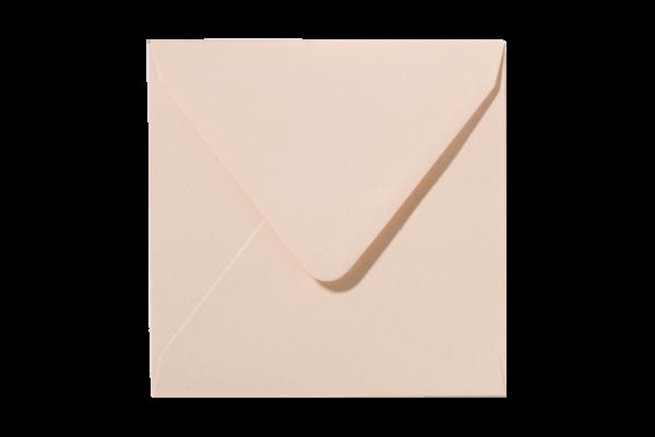 Abrikooskleurige vierkant envelop abrikoos puntklep
