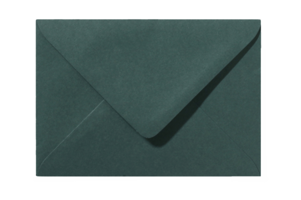 Envelop Donkergroen Puntklep 18 x 12 cm
