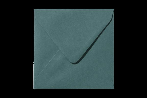 Donkergroene vierkant envelop Donkergroen puntklep
