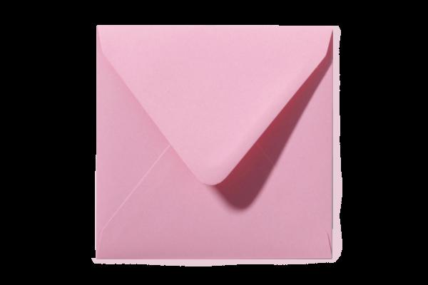 Donkerroze vierkant envelop puntklep