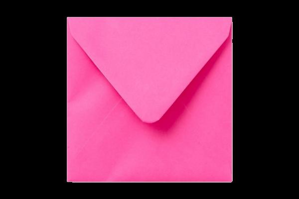 Knalroze vierkant envelop puntklep