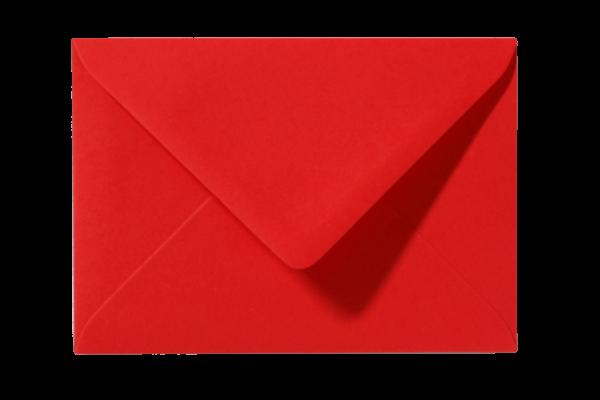 Envelop Koraalrood Puntklep 18 x 12 cm
