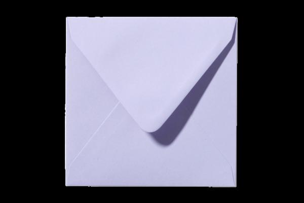 Lavendelkleurige vierkant envelop Lavendel puntklep