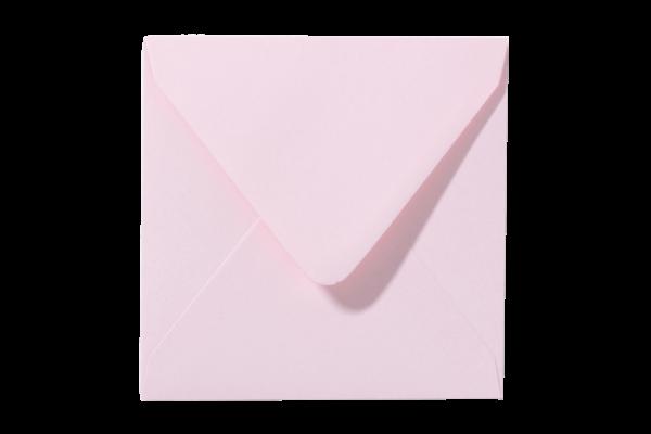 Lichtroze vierkant envelop puntklep