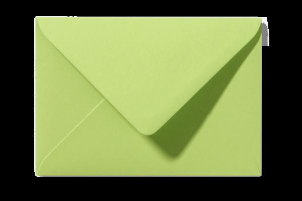 Envelop Fel Lindegroen Puntklep 18 x 12 cm