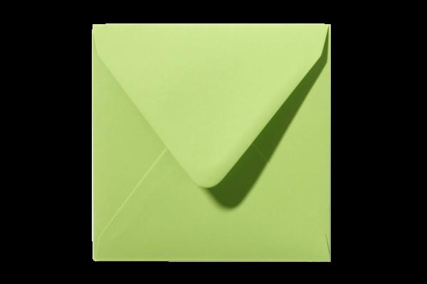 Felgroene vierkant envelop Felgroen Lindegroen puntklep