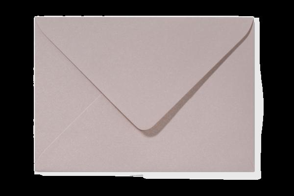 Envelop Metallic Blush Puntklep 18 x 12 cm