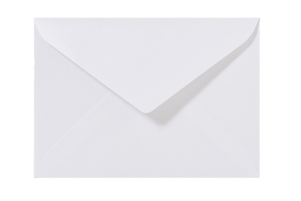 Envelop Metallic Wit Puntklep 18 x 12 cm
