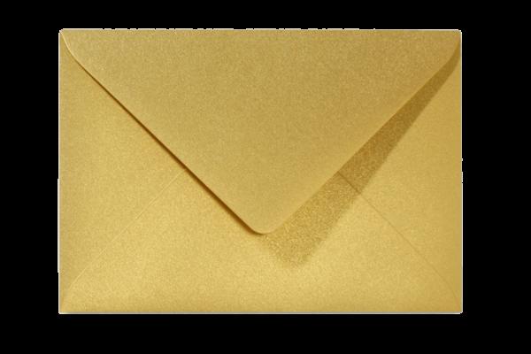 Envelop Metallic Goud Puntklep 18 x 12 cm