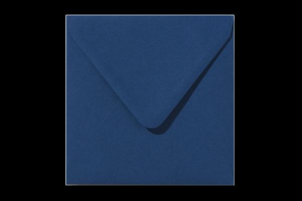 Nachtblauwe vierkant envelop Nachtblauw puntklep Donkerblauw