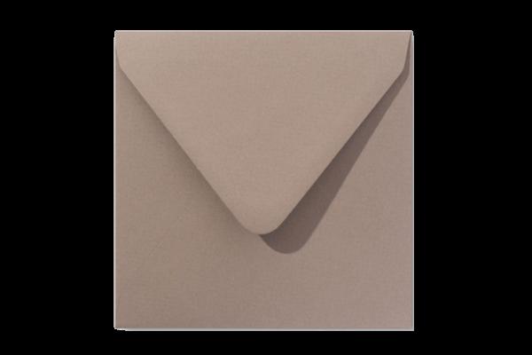 Zandbruine vierkant envelop puntklep Zandbruin Eco