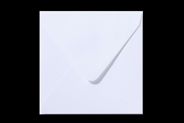 Witte vierkant envelop Wit puntklep