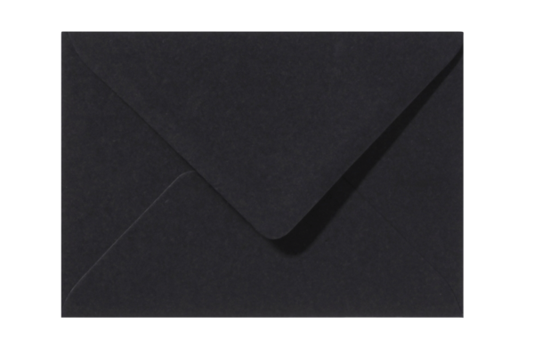 Envelop zwart puntklep 18 x 12 cm